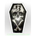 Sticker cerceuil skull lucky 13 thirteen cross bones skull20