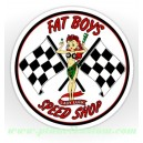 Sticker fat boys speed shop Pin Up oldschool lady luck 1
