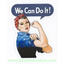 Sticker rosie la riveteuse we can do it oldschool vintage old Pinup 43