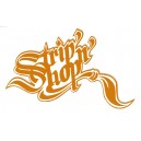 Sticker SNS StripnShop signature orange on white SNS Strip 2