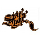 Sticker SNS StripnShop signature black on orange SNS Strip 3