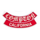 Patch ecusson von Dutch compton california rouge et argent dos large