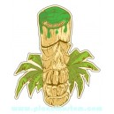 Sticker Bigdaddyjo tribute to manatii scult tiki palm grand modele BIG44