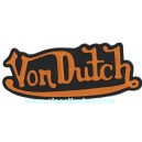 Patch ecusson von Dutch signature orange fond noir dos large