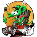 Sticker Strip'n'Shop anne-lise SnS rat rod fink tiki petit