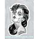 Sticker girl of dead sexy lady dia de los muertos 22