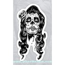 Sticker mama of dead lady sugar skull dia de los muertos 23