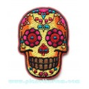 Patch ecusson skull dia de la muerte multicolor day of dead sugar skull