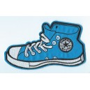 Patch ecusson basquette bleu converse haute all star blue