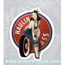 Sticker pinup haulin ass sexy mecano girl oldschool old Pinup 48