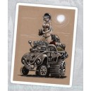 Sticker german army desert bettle cox VW pinup cartoon 2