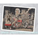 sticker sexy kustom bike girl radio flyer lowrider pinup cartoon 4