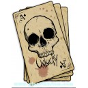 sticker unlucky ace of spade skull card carte as de pique tete de mort skull 25