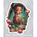 sticker bayou beauty tattoo girl frog flower cartoon old pin up 52