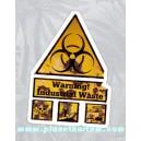 Sticker warning industrial wast biohazard zone danger zombie 17