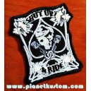 Patch ecusson skull military spade shut up & ride tais toi et roule gras