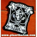Patch ecusson skull military spade shut up & ride tais toi et roule