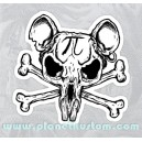 Sticker pi rat skull bones pirates rats 19