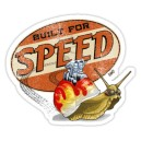 Sticker built for speed used patina escargot moteur rats 21