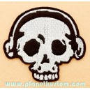 Patch ecusson skull crane sound music tete de mort