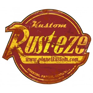 Sticker planet kustom rust-eze used stickers patchs goodies rats