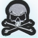 Patch ecusson skull head pirate bones