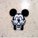 Patch ecusson mickey mouse double fuck fucking souris