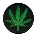 Patch ecusson feuille cannabis ganga kana kanabis chanvre