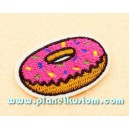 Patch ecusson donnut USA beignet gateau americain