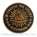 Patch ecusson thermocollant in cheese we trust pizza brigade