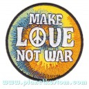 Patch ecusson logo peace and love hippy make love not war