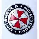 Sticker autocollant umbrella corporation logo rond badge 3d métal