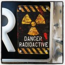 Sticker danger radioactive panneau zone used rats zombie 21