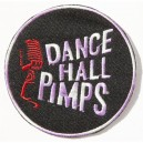 Patch ecusson dance hall pimps micro shure rock n roll