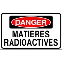 Sticker danger matieres radioactives nucléaire zone zombie 25