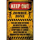 Sticker keep out zombies zone infected area danger zombie 26
