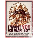 Sticker i want you for war boy with planet kustom petit