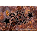Sticker rectangle rouille by planet kustom rust is not a crime 2