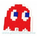 Patch ecusson geek red ghost phantom rouge pacman