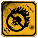 Sticker war boys danger road sign mad max skull petit war boys 1