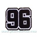 Patch ecusson thermocollant 96 silver on black
