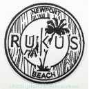 Patch ecusson thermocollant rukus newport beach surfeur surf