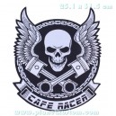 Patch ecusson skull cafe racer biker tete de mort wings ailes grand