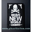 Patch ecusson thermocollant skull bones brave new world