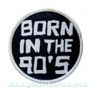 Patch ecusson thermocollant born in the 90 s née en 90 geek