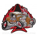 patch ecusson grande taille rat rod cartoon dos hot rod