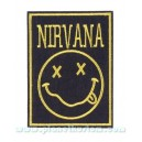 Patch ecusson thermocollant nirvana band grunge garage USA rectangle