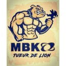 Sticker MBK tueur de lion old patina oldschool mob mobylette grand