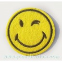 Patch ecusson smiley clin d'oeil ok cool retro emoji emoticon