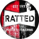 Sticker ratted a denoncer est 1973 rust is not a crime used patina rats 36